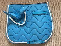 Matchy Set Saddle Pad Fly Veil/Bonnet FULL Turquoise FREE UK Postage