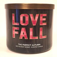 1 BATH & BODY WORKS THE PERFECT AUTUMN SCENTED 3-WICK LARGE 14.5 FILLED CANDLE