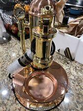 New Listingelektra Microcasa Leva Manual Espresso Cappuccino Machine Copper Amp Brass 110v