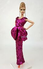 Handmade Evening Dress Outfit Gown For Silkstone Fashion Royalty Rupaul FR Doll