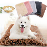 Cozy Long Plush Pet Dog Bed Warm Cat Sleeping Mat Pad Soft Mattress Kennel Crate