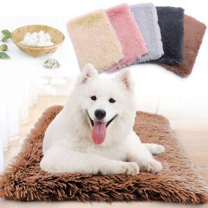 Soft Pet Dog Cat Bed Fleece Crate Bed Mat Machine Washable Cushion Pet Bed Liner