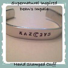 Handmade Supernatural Inspired Dean's License Plate KAZ2Y5 Hand Stamped Cuff