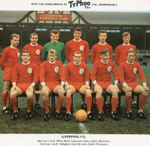 Vintage Team Photograph Liverpool FC Typhoo Tea Ltd card football soccer #43