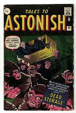Marvel TALES TO ASTONISH 33 4.0  pence  VG HORROR DEAD STORAGE