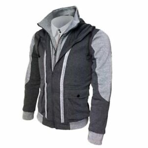 Men's Jacket Warm Hoodie Coat Sweater Hooded Sweatshirt Outwear Winter Tops