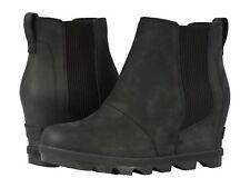 New SOREL Women's Joan of Arctic Wedge II Chelsea Boot (was Lea Wedge) Black