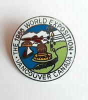 Vintage 1986 World Exposition Vancouver Canada Enamel Pin