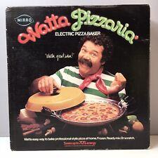 Mirro Watta Pizzaria Electric Pizza Maker Baker Oven Harvest Gold 1977 IN BOX