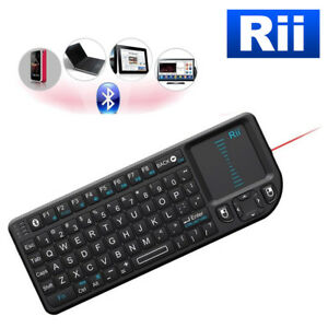 GENUINE Rii Bluetooth Mini LED Backlight Keyboard + Touchpad with Laser Pointer