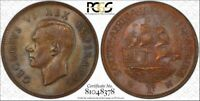 #1 Highest Graded Coin WorldWide 1942 South Africa 1 Penny PCGS MS64 BN Toned