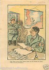 Caricature Guerre WWII Hitler & Hermann Göring /Goering 1939 France ILLUSTRATION