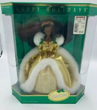 NEW 1994 Happy Holidays Edition Barbie Doll - African American - Mattel 12156