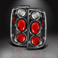 for 2001-2004 Toyota Tacoma Tail Lights Black Clear Brake Rear Lamps Left+Right