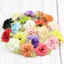 DIY 50Pc 5cm Artificial Fake Rose Silk Flower Head Wedding background wall Decor