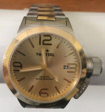 375f08d3102 TW Steel - Canteen - Mens 45mm Quartz Watch with Gold Tone Dial CB51
