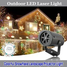 Outdoor Moving Snowflake LED Laser Light Projector Landscape Xmas Garden Lamp