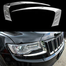 For Jeep Grand Cherokee 2014-2016 Chrome Front Head Light Lamp Eyelid Cover Trim