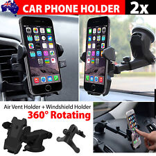 2x Universal Windshield Mount Car Holder Cradle For GPS iPhone XR XS Max Samsung
