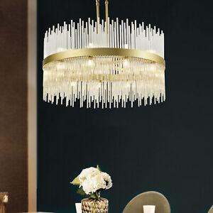 22-Light Crystal Branch Chandeliers Brass Hotel Round Pendant Light Luxurious