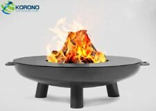 Korono Feuerschale 100cm Durchmesser mit Stahl Deckel Handmade