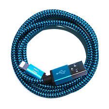 20cm Premium NYLON USB Ladekabel für iPhone 7 iPhone 6 S iPhone 8 iPhone X blau