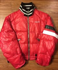 Vintage Baby Phat Women's Puffer Jacket Coat XL Red Cat Logo