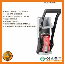 CAN CRUSHER HEAVY DUTY ALUMINIUM BOTTLE OPENER BEER SODA POP CANS ECO RECYCLING
