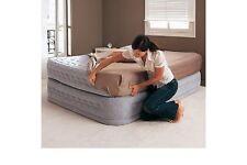 Cama hinchable colchón hinchable,INTEX 66962 con bomba eléctrica, 152 x 203 x 51