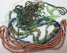 HUGE LOT-green Garnet Rondelle, Czech glass and Afghan Ancient Glass beads