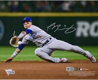 "Javier Baez Chicago Cubs Autographed 8"" x 10"" Diving Photograph"