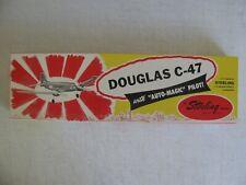 """Vintage Sterling Models Balsa Wood Douglas C-47 Airplane Kit 24"""" Wingspan #M-7"""