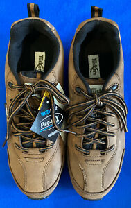 TUSKERS 198432 MENS LEATHER STEEL TOE/MIDSOLE HIKER SAFETY SHOES BROWN SIZE 7/41