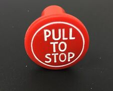 RED PULL TO STOP KNOB  FOR MASSEY FERGUSON 35,135, 148 & TE20 TRACTORS