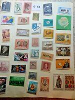 Mint worldwide stamps.  Lot # G 64 Spain, Antigua, Austria, Mexico, San Martino