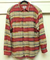 TERRITORY AHEAD Heavy Shirt Tribal Western Aztec XL Woven Cotton