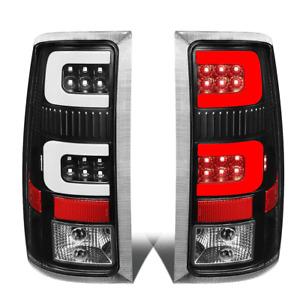 For 2007-2014 GMC Sierra 1500 2500 HD LED C-Tube Bar Tail Brake Light Lamp Black