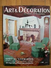MAGAZINE : ART & DECORATION – N° 120 1966 – CHEMINEE POUTRE GARCONNIERE BASTIDE
