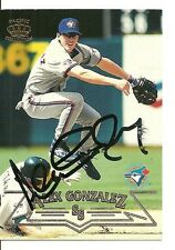 ALEX GONZALEZ TORONTO BLUE JAYS SIGNED AUTO 1998 PACIFIC CARD #221 W/COA