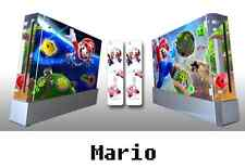 Skin Sticker Cover For NintendoWii Console and 2 Remotes Mario 054