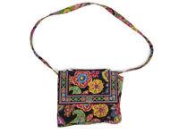 Vera Bradley Julia Crossbody Bag Paisley Frame Structured Top Handle Purse
