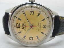 vintage hmt pilot hand winding mens steel golden  dial wrist watch run order