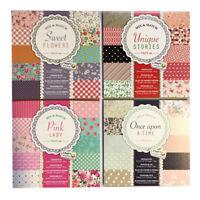 15x15cm Design Pad Card Craft Designer Pattern Paper Range 100g