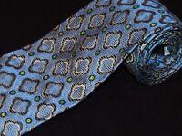 New XMI Platinum Tie Blue Floral Geometric Woven Luxury Designer Jacquard Mens