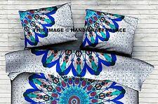 Indian Feather Mandala Cushion Pillow Cover Decorative Bedding Sham Cotton Throw