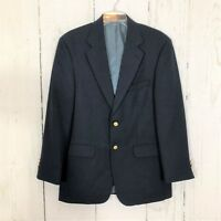 Stafford Mens Classic Blazer Jacket 42L Navy 2 Button Single Vent Wool Blend