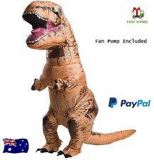 T-Rex Inflatable Adult Costume Jurassic Park DINOSAUR Suit TRex Cosplay Outfit