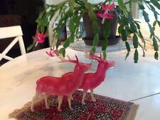 Celluloid reindeer Pair