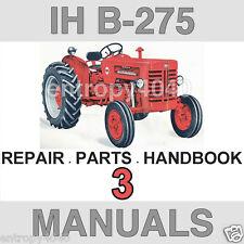 IH McCormick B-275 TRACTOR Repair MANUAL & Parts & Handbook -3- MANUALS B275 CD