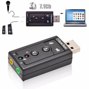 Mini USB 2.0 3D Virtual 12Mbps External 7.1 Channel Audio Sound Card Adapter